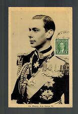 1937 Canada MAxicard Postcard cover Coronation KGVI King george 6