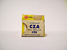 """CZA - CZB Projector Projection Lamp Bulb 500W  """"GOLD TOP"""" GE  *AVG 25-HOUR LAMP*"""