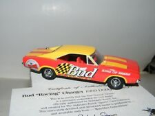 "Matchbox 1:43 Bud ""Racing"" Charger 1969 Dodge Charger DYM37598 w/COA & Boxes"