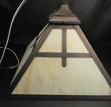 vtg REJUVENATION LAMP SLAG GLASS ARTS & CRAFTS CEILING LIGHT FIXTURE (XLNT)