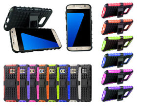 Heavy Duty Hybrid TPU Back Case Cover for Samsung Galaxy S7 Edge with Kickstand