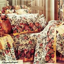 DAN RIVER CHAMBERLAY KING COMFORTER SET NEW MIB VINTAGE 1980S BED SKIRT SHAM 4pc