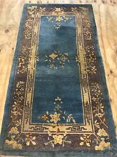Antique Art Deco Chinese Size:182x91 Cm RUG CARPET Handmade Shabby Chic