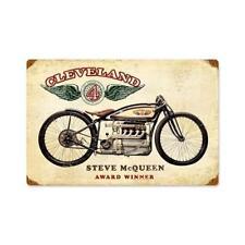 Vintage Style Metal Sign for Harley Biker Garage McQueen's Cleveland