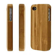 Natural Bamboo Wood Hard Back Case Cover Protector for Apple iPhone 4 4G 4S OE