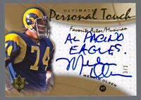2009 Upper Deck Ultimate Merlin Olsen Personal Touch Auto #3/3 Rams