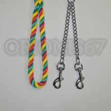 Extra Heavy Duty Double Clip Lead 14 mm Rope Various Sizes & Colours Handmade