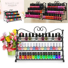 3 Tiers Metal Nail Polish Stand Organizer Polish Display 60 Bottles Holder Rack