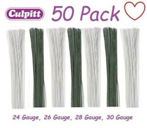 Culpitt Florist Wire Coloured Floral Gumpaste Sugar Sugarcraft Flowers 50pck