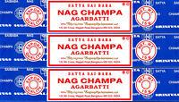 45 Grams Nag Champa 3 X 15 Grams Pack Original Incense Sticks SATYA SAI BABA