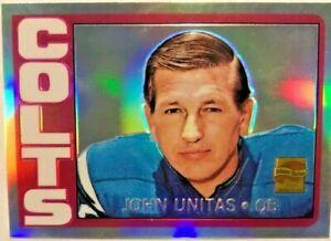 JOHNNY JOHN UNITAS 2000 TOPPS CHROME REFRACTOR #R16 1972 Topps #165 COLTS