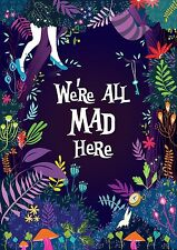 "Alice in Wonderland Movie Fabric poster 20""x 13""  Decor 42"