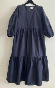 Seed Heritage Navy  Midi Tiered  Dress size 6