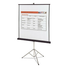 Quartet Portable Tripod Projection Screen 60x60 White Matte Black Steel 560S New