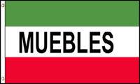 Muebles Flag Banner 3' x 5' Polyester