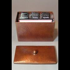 New Hand Hammered Roycroft-style Copper Recipe Box - Free Shipping!