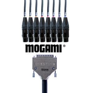 D-Sub Serial DB25 to XLR Female   Mogami Analog Tascam 8 Way/Channels Snake Loom
