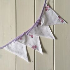 2.5m Handmade Pink Butterfly & Purple Polka Dot Fabric Bunting