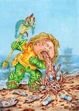 COLOR ROUGH Aquaman - Gross Card Con 2019 / Garbage Pail Kids