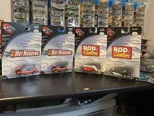 Hot Wheels 100% Lot Of 4. Shoe Box, 34 Ford Roadster Rod & Custom.Mercury Cougar