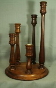 vintage wood colonial style 5 tier height candleholder candle holder centerpiece