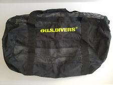 U.S. Divers Large Black Yellow Mesh Duffel Gear Bag Scuba & Snorkel Equipment