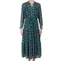 Gerard Darel Della Floral-Print Green Midi Dress Size 38/6