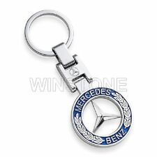 2015 Genuine Mercedes Benz Vintage Star Key Ring Classic Silver-coloured/blue