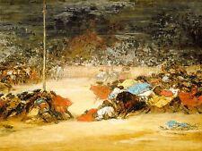 EUGENIO LUCAS VILLAMIL SPANISH BULLFIGHT OLD ART PAINTING POSTER BB5287A