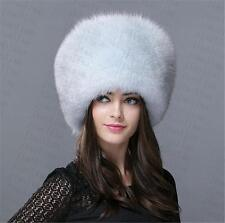new Genuine Real fashion Winter Women fox fur New Hat Cap Headgear Beanie B3
