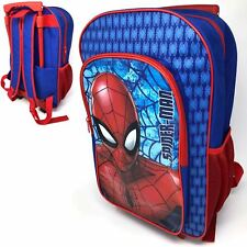 f2f13730133 Marvel Spiderman Deluxe Backpack Trolley 1019hv-7585 Blue Cabin Sized