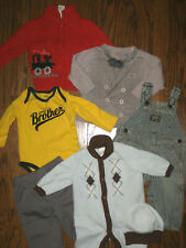 lot boys infant  6 month months tops pants 1 piece outift sweaters overalls