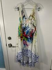 Anthropologie MAEVE White Floral Silk Impressionist Dream Dress Size 4 NICE L@@K
