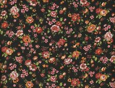 Floral Cotton Fabric 4 Sewing Quilting Crafts Doll Clothes - By the Yard