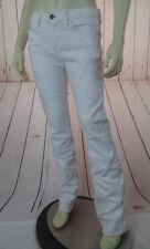 BANANA REPUBLIC Jeans 27 White Straight Leg Cotton Spandex Low Rise Skinny HOT!