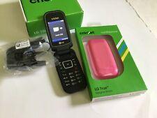 LG True Flip Phone Cricket Black Android Phone