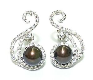 Classy Chocolate Brown Round 6.5 - 7mm Freshwater Cultured Pearl Stud Earrings