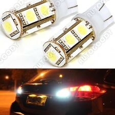 2 x Xenon White Reverse Backup 360° LED Light Bulbs 9-SMD 921 912 T10