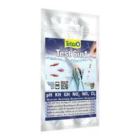 Tetra 6 in 1 Aquarium Water Tropical Test Kit PH GH KH No2 No3 Chlorine 10 Pack