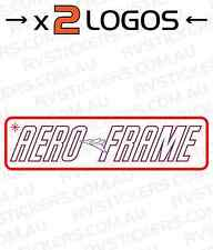 2x CHESNEY AERO FRAME Caravan decal, sticker, vintage, graphics retro