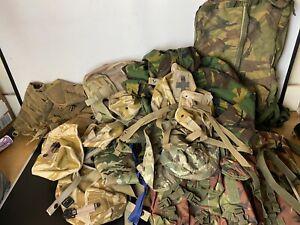 Huge Job Lot British Army Surplus Woodland DPM & Desert DCU Clothing + Bags