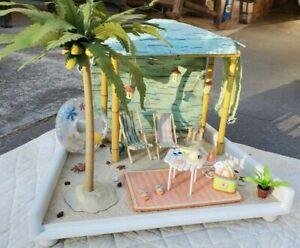 American Girl AG Minis Seaside Cabana Set - COMPLETE