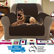 Couch Sofa Cover | Custom Fit | Slipcover Pet Protector | 1 Seater | Coffee