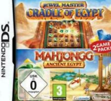 Nintendo DS 3ds jewelmaster Cradle of Egypt + Mahjongg Egypt usato come nuovo