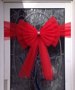 Luxury Half Door Bow  Christmas Bows HALF decoration  FREE POSTAGE