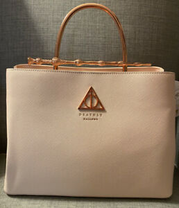 NWT Loungefly Harry Potter Elder Wand Handbag With Rose Gold Metal handle