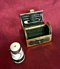 More details for sewing etui treasure chest gilt metal novelty collectable