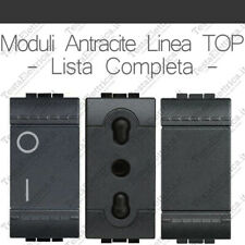 Bticino living compatibile interruttori, pulsanti e prese antracite linea TOP