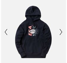 Kith X Columbia EEA Globe Logo Hoodie Navy Size L IN HAND READY TO SHIP