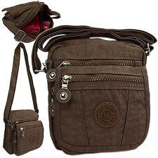 Kleine leichte nylon Tasche Handtasche Umhängetasche Crossover Damentasche Braun